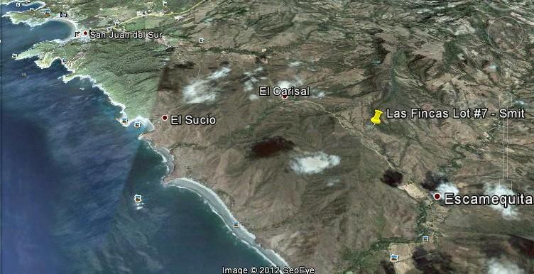 Google Earth Map - Las Fincas Lot #7 - Smits