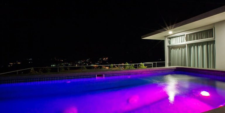 Sky House Pool at Night