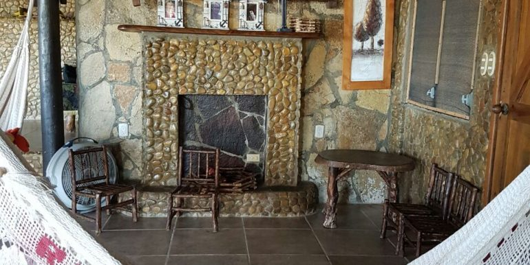 Casa el Coco Fireplace