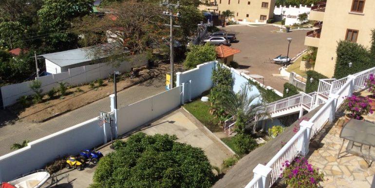 gated parking area below