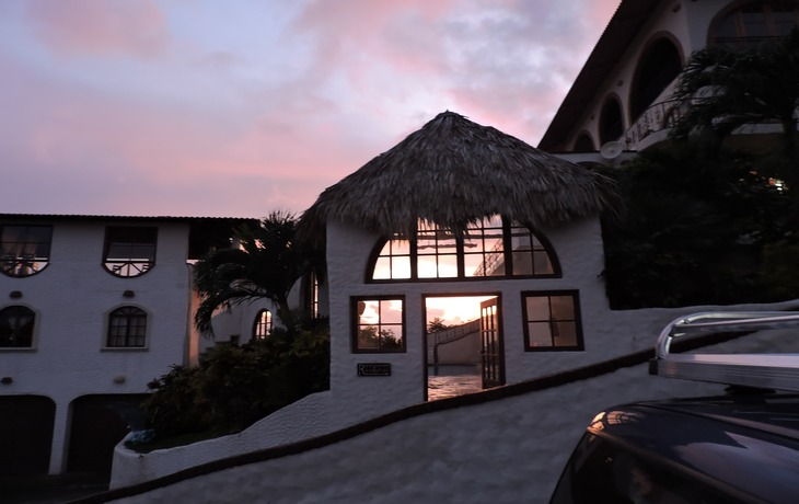 Casa Bahia 7 Door at sunset