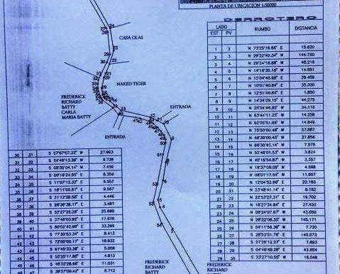 Road plot map