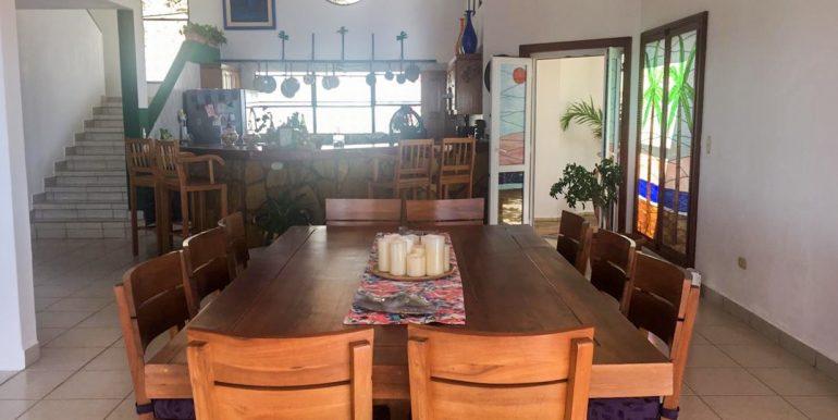 Casa Sacuanjoche Ocean Front Estate Dining Room