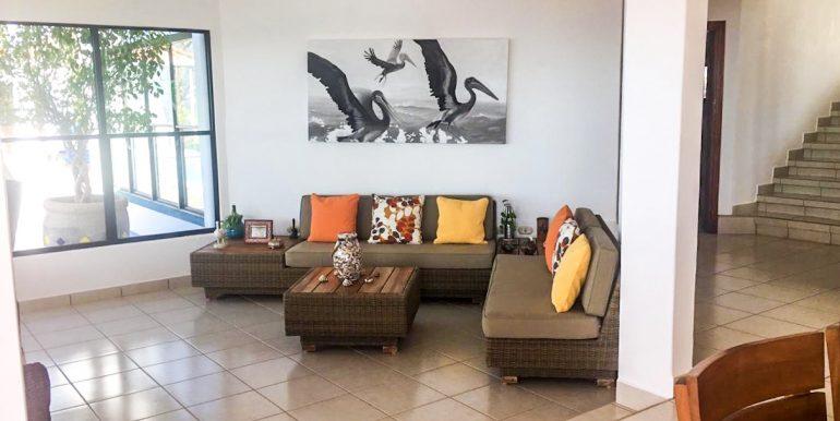 Casa Sacuanjoche Ocean Front Estate Living Room