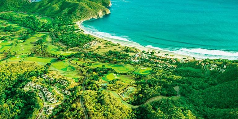 Guacalito Aerial Entire Bay and casas