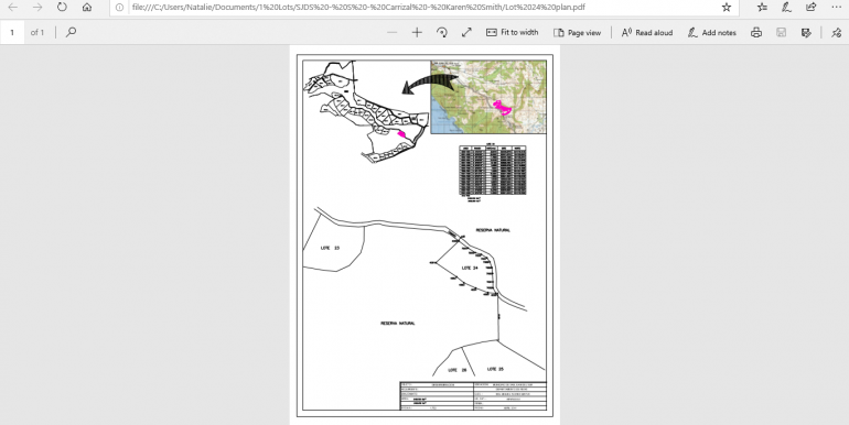 Plot map lot 24
