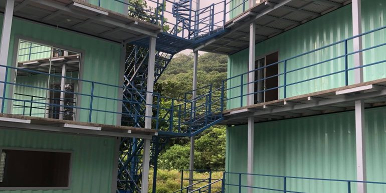 Container Hotel connecting stairs for access