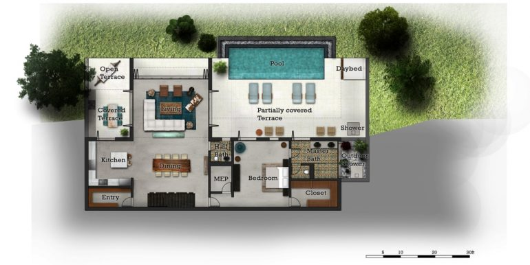 3 Bedroom Lower Floor Plan
