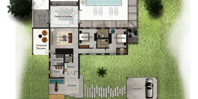 3 Bedroom Upper Floor Plan Big Sky Ranch