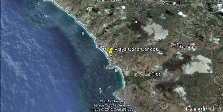 Playa Coco Beachfront Townhome Map