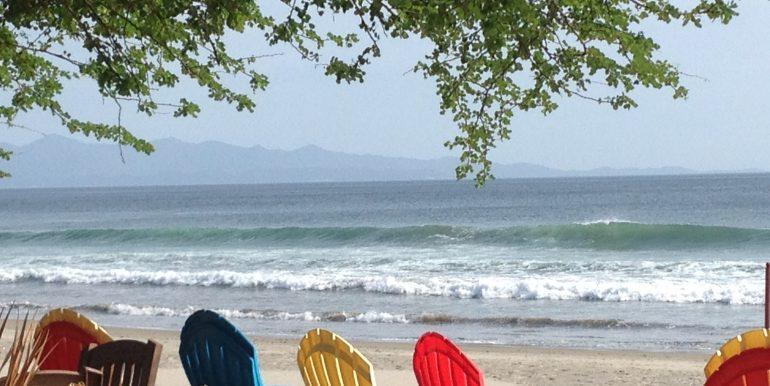 Casa Mariposa beach chairs