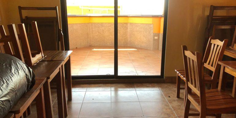 Hotel La Terracita common room connection to patio